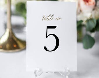 Printable Table Numbers Template, Editable Table Numbers, Wedding Table Numbers, Calligraphy Table Numbers, Editable Wedding Sign KPC03_203