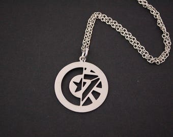 Captain America Winter Soldier Stucky necklace
