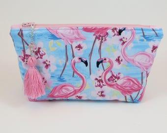 Makeup Bag - Travel Bag - Cosmetic Bag - Cute Makeup Bag - Zipper Bag - Gifts Under 20 - Sister Gift - Flamingo - Birthday Gift - Mom Gift