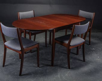 Danish dining table and chairs