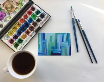 Blue Mix Postcards (Pack of 10)
