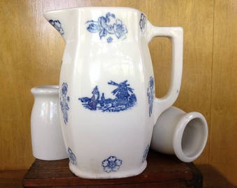 Antique Dutch Stoneware Pitcher