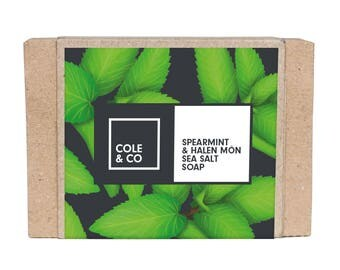 Welsh Handmade Herbal Spearmint & Halen Môn Soap