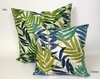 Tropical Palm Leave Collection, Palm Leaf Print,  Palm Leaf Pillow, Woodland Print, Tropique Print, Malibu Birge, Palm, Indoor & Outdoor
