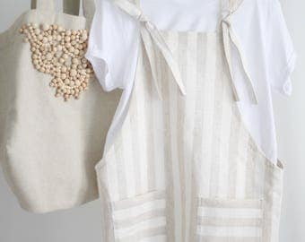Dress with straps. 100% linen.