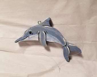 wooden dolphin ornament