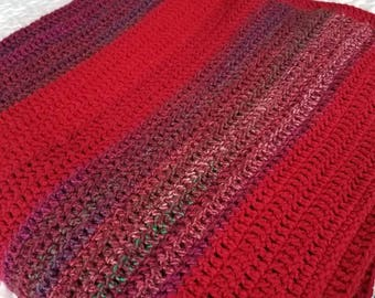 Verigated Afghan for couch or bed