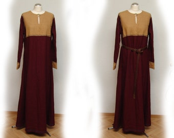 Dress, linen, Middle Ages, Vikings, Rus, Slaven, Reenact, Larp, Gr. S-M