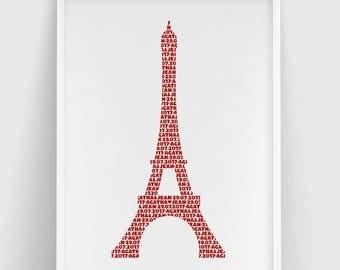 Paris - The Eiffel tower - Poster