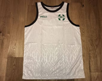 O'Neills Tank Top / Singlet Sleeveless made in Ireland - 90s Vintage Retro - Running - Deadstock New - Basketball - Goal