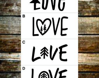 Love Vinyl Decal Options / Word Decal / Laptop Decals / Car Decals / Adventure Decals / Computer Decals / Window Decals
