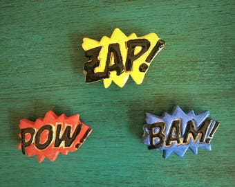 Bam Pow Zap Ceramic Magnets
