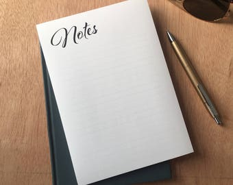 A5 monochrome note pad - note pad - notes - writing pad - desk pad - to-do - lists - diary - notebook - office stationery