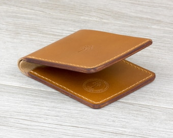 Mens Wallet / Italian Leather / Leather Wallet / Wallets for Men / Minimalist Wallet / Full Grain Leather / Front Pocket / Buttero / Tan
