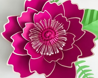 SVG Petal #7 Paper Flower Template with Base, DIGITAL file for Cutting Machines Such as Cricut and Silhouette Cameo