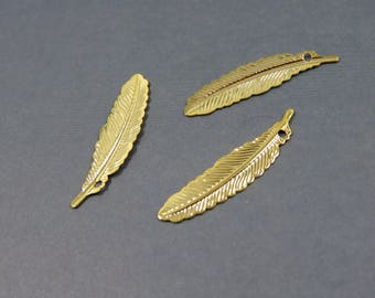 gold plated leaf (S19) feather charm