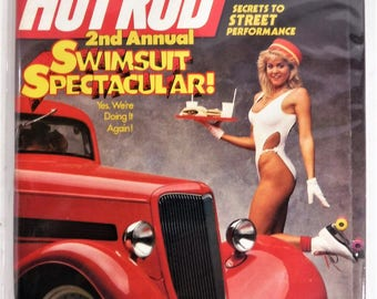 """HOT ROD MAGAZINE April 1988 """"Swimsuit Spectacular"""" Issue...Complete & Very Good Condition"""