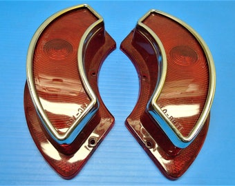 1962 PONTIAC TAIL LIGHT Lenses From Glo-Brite...New Old Stock In Boxes...Fits Full-Size Except Bonneville & Station Wagon