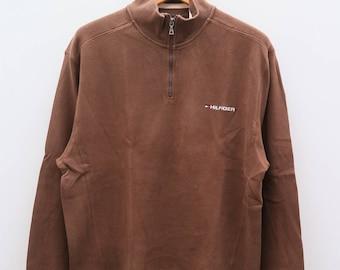 Vintage TOMMY HILFIGER Brown Sweater Sweatshirt Size M