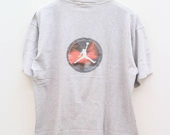 Vintage NIKE Sportswear NBA National Basketball Association Gray Tee T Shirt Size L