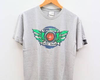 Vintage NIKE Hoops Live Play Play Live Gray Tee T Shirt Size XL