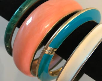 4 Assorted Bangle Style Bracelets