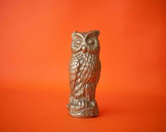 OWL brass, OWL brass, brass, interior decoration brass bird figurine statue, sculpture, home decor, vintage