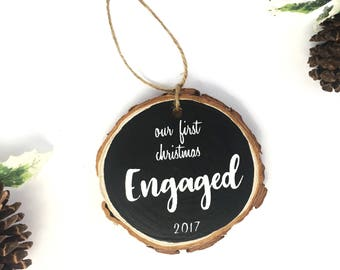Engagement Ornament, Unique Engagement Gifts, First Christmas Engaged, Fiancee Gift, Christmas gift for Fiancee, Our first Christmas.