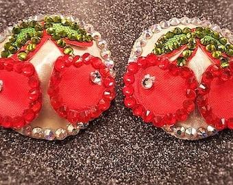 Crystal Cherry Nipple Pasties