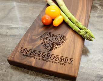 Personalized Cheese Board, Serving Board, Bread Board, Custom, Engraved, Wedding Gift, Housewarming Gift, Anniversary Gift, Engagement #37