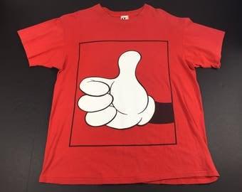 Vintage 90s Mickey Mouse thumbs up t-shirt mens XL walt Disney world