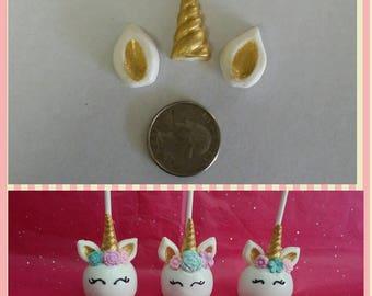 Unicorn horn, ears and flowers