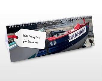 Personalised Boats Desk Calendar Gifts Ideas For Sailing Yaht Boat Men Women Girls Boys