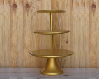3 Tier Cupcake Stand 14/16/18 Wedding, Bridal, Birthday Сustom Cupcake Stand Gold Cupcake Tower