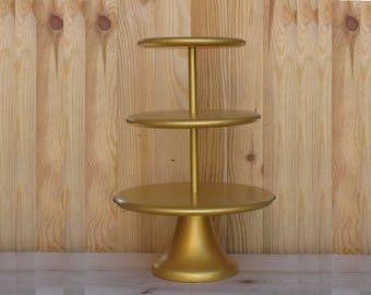 3 Tier Cupcake Stand 14/16/18 Wedding, Bridal, Birthday Сustom Cupcake Stand Gold Cupcake Tower