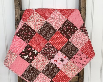 cowgirl baby bedding - western baby quilt - Texas baby blanket - crib bedding - baby shower gift - tummy time mat - stroller blanket