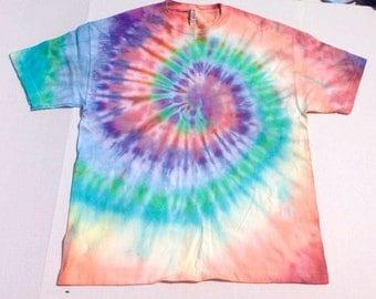 Spiral Rainbow TIE DYE T-Shirt Size XL