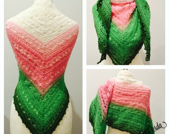 Shawl, scarf, shawl, stole, shawl 165 x 70 cm