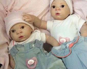 Twin baby reborn kit Willow