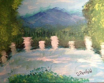 A beautiful Waterfalls Painting