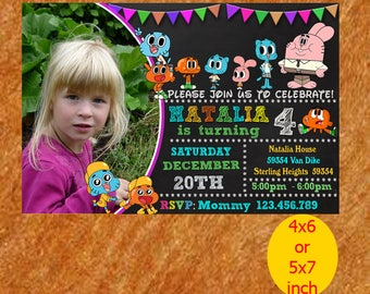 Gumball Birthday Invitation, Gumball Invitation, Gumball Printable, Gumball Party, Gumball Birthday, instant download