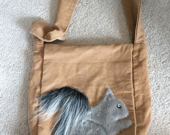 Squirrel messanger bag hippy