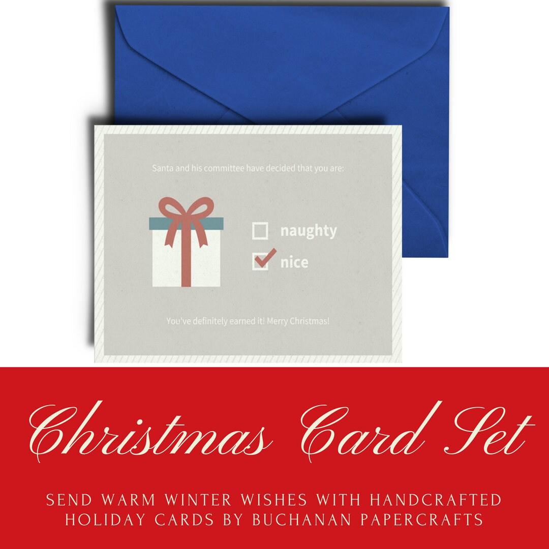 Naughty or nice christmas cards christmas card set nice naughty or nice christmas cards christmas card set nice holiday cards funny holiday kristyandbryce Gallery