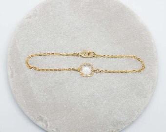Bracelet Gold Plated Crystal