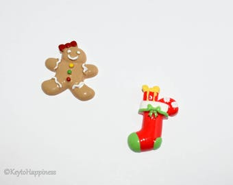 Gingerbread Man and Stocking Resin R458