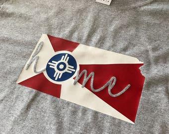Long Sleeve Wichita Flag T