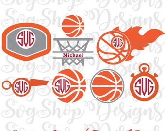 Basketball Svg Cut Files, Basketball Svg,Ball SVG, Basketball Monogram Svg, Cut Files for Cricut and Silhouette, INSTANT DOWNLOAD