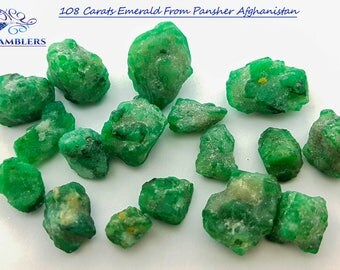 108 Carat Emerald From Panjher Afghanistan.