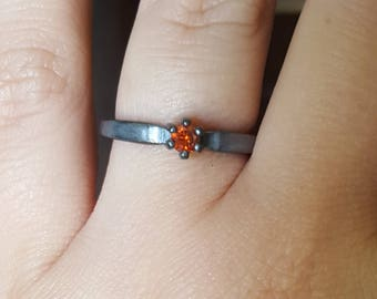 SALE : 0.20ct red diamond ring