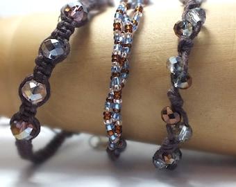 Brown Hemp Bracelet Set